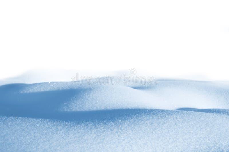 Sneeuwbank op witte achtergrond stock afbeelding