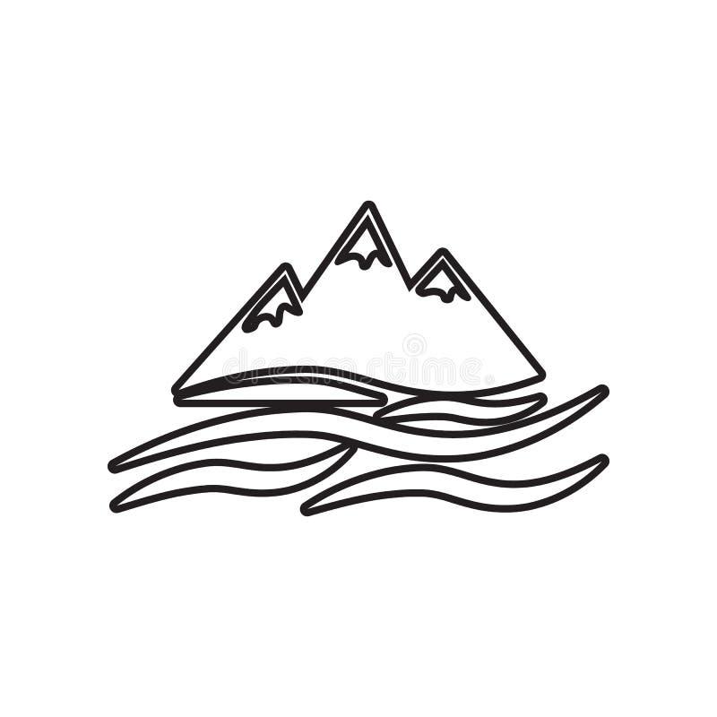 Sneeuwbergenpictogram Element van Landschap voor mobiel concept en webtoepassingenpictogram Overzicht, dun lijnpictogram voor web stock illustratie