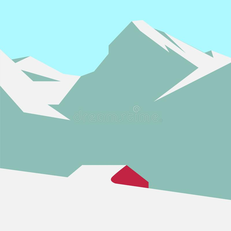 Sneeuwberglandschap vector illustratie