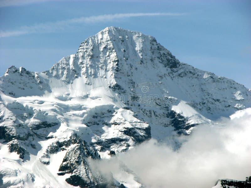 Sneeuwbergpiek stock afbeeldingen