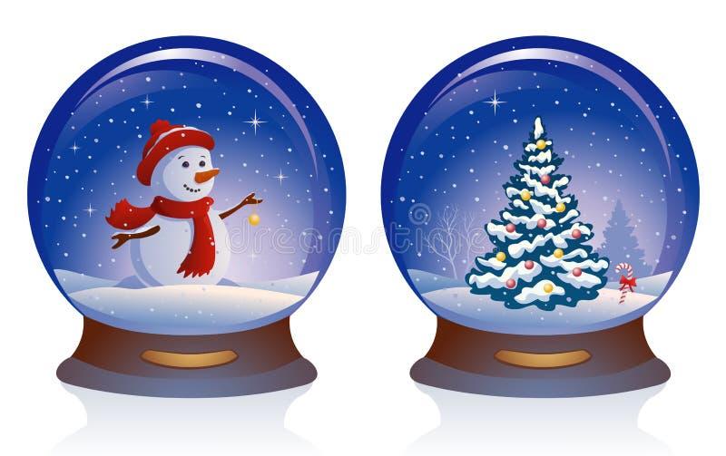 Sneeuwbollen royalty-vrije illustratie