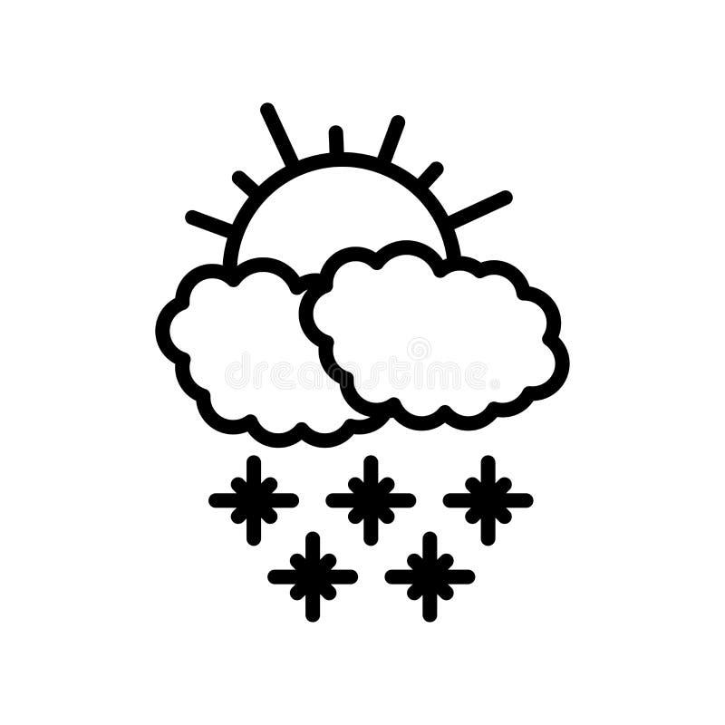 Sneeuwend pictogram vectordieteken en symbool op witte achtergrond, Sneeuwend embleemconcept wordt geïsoleerd vector illustratie