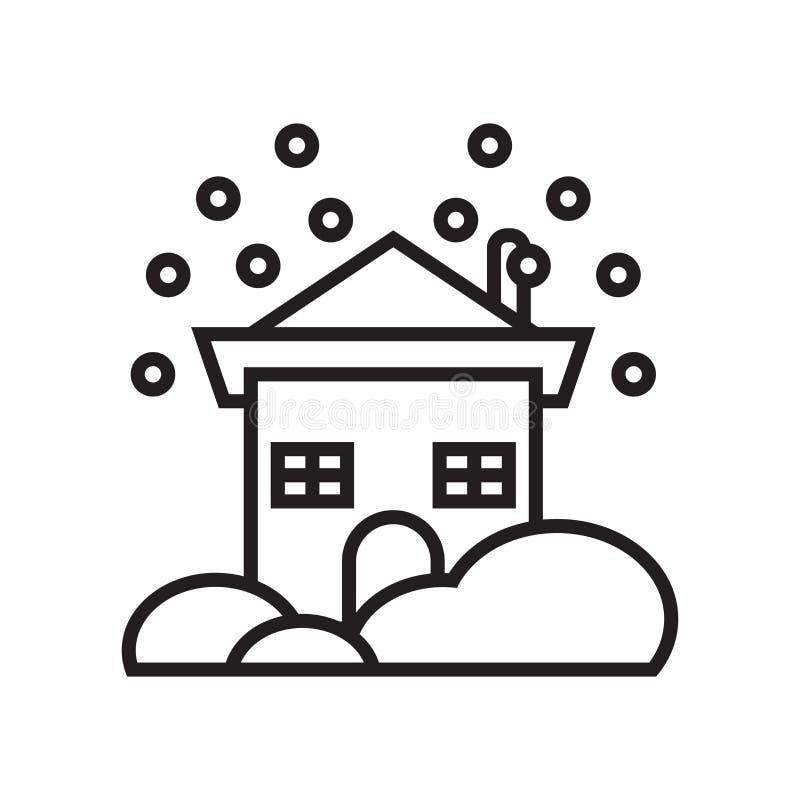 Sneeuwend pictogram vectordieteken en symbool op witte achtergrond wordt geïsoleerd stock illustratie