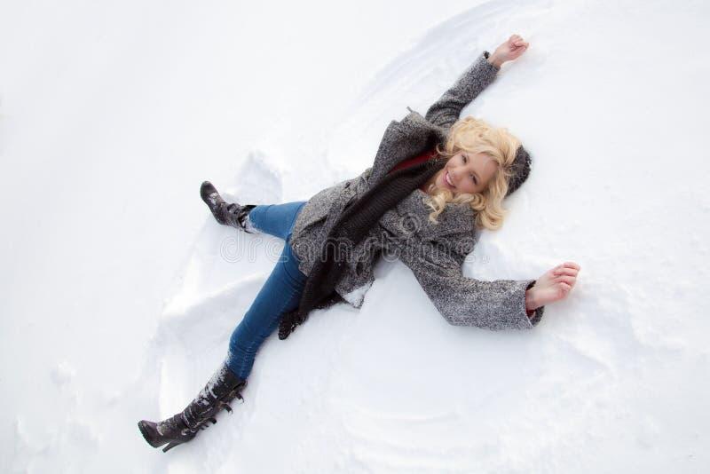 Sneeuwengel stock foto