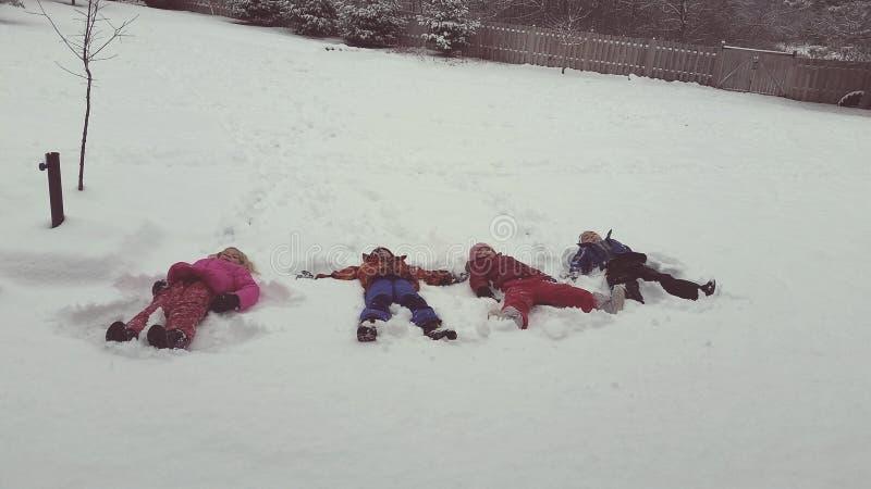 Sneeuwengelen royalty-vrije stock foto's
