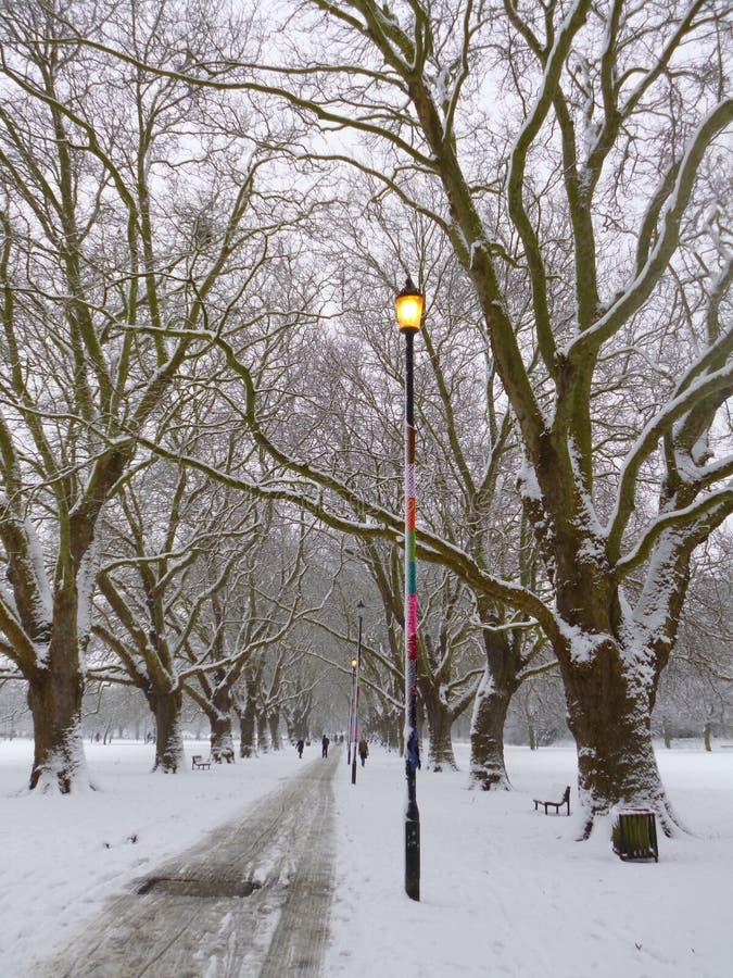 Sneeuwgang royalty-vrije stock fotografie