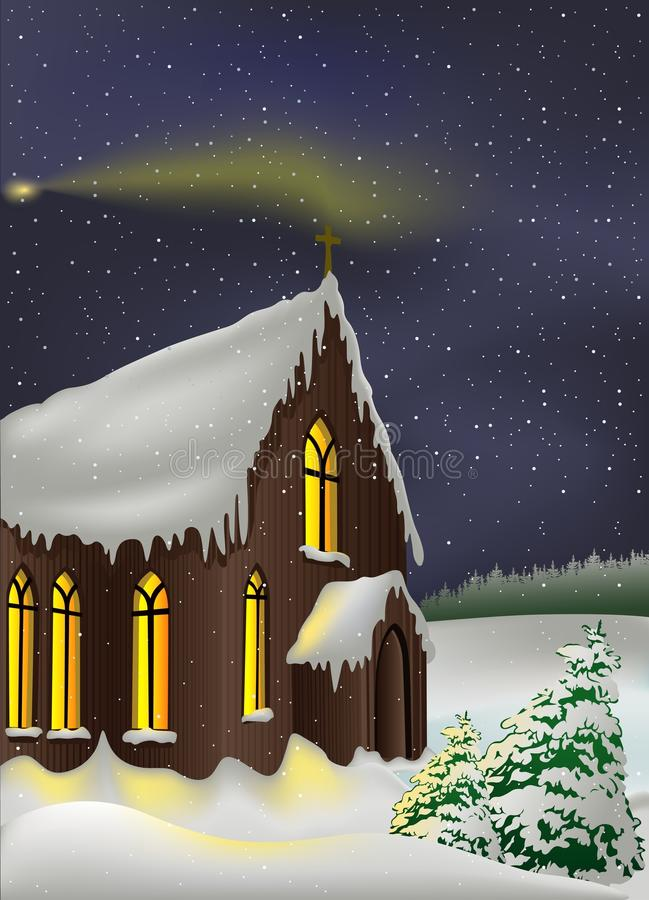 Sneeuwkerk vector illustratie