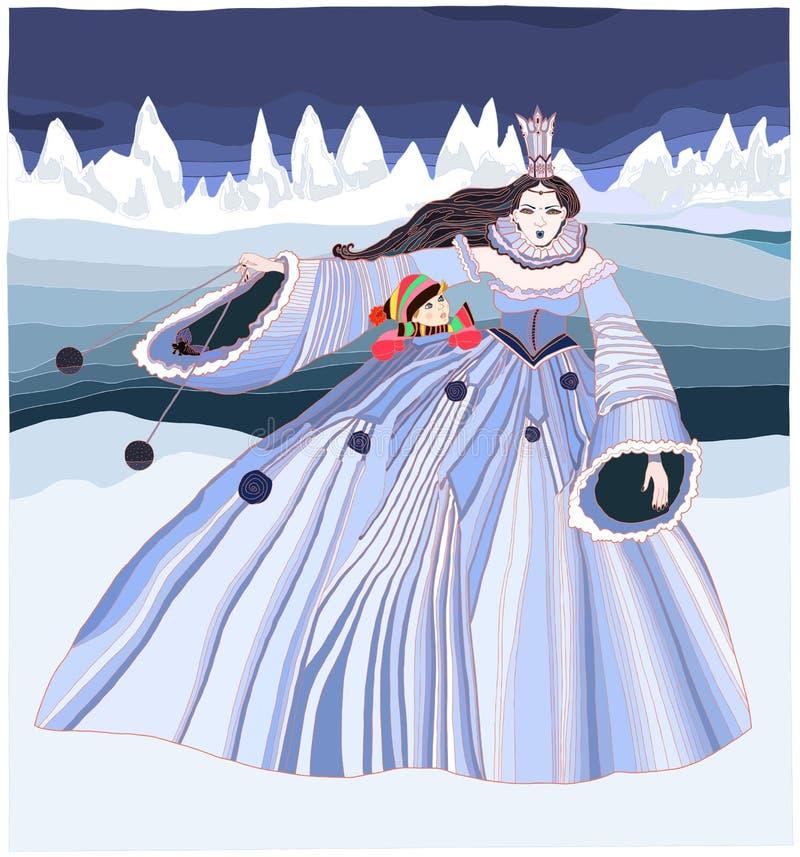 Sneeuwkoningin stock illustratie