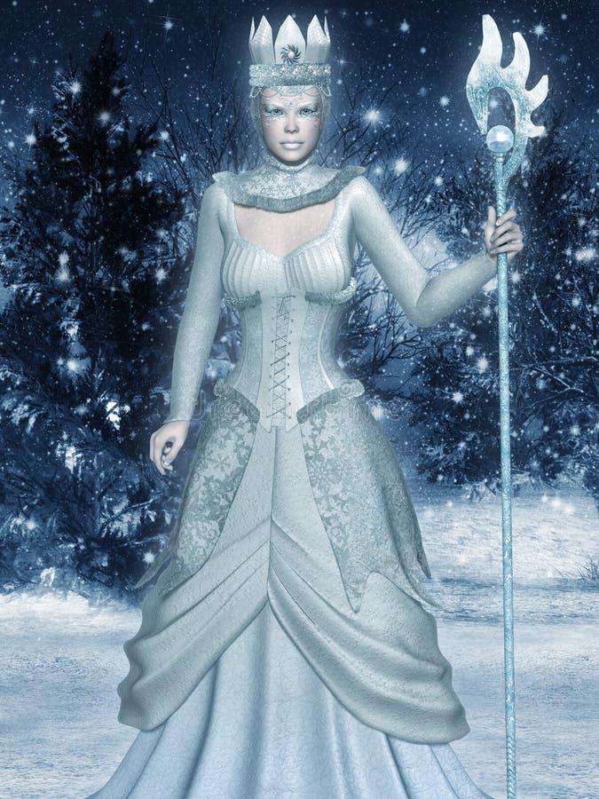 Sneeuwkoningin royalty-vrije illustratie