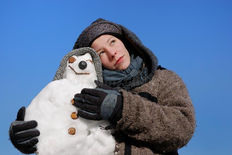 Sneeuwman stock foto's
