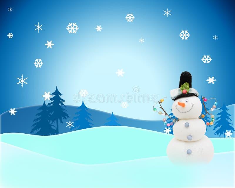 Sneeuwman stock afbeelding