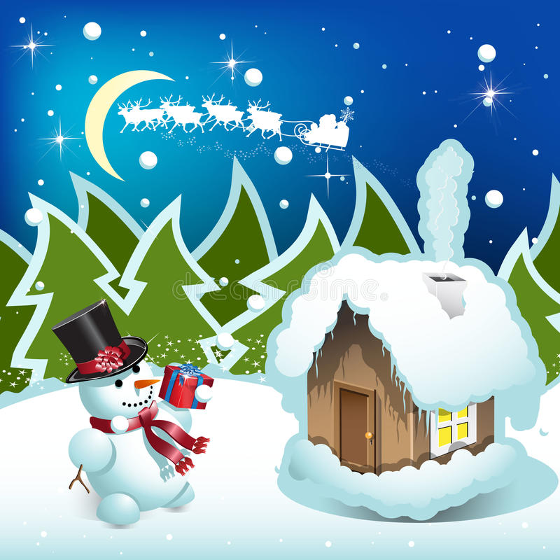 Download Sneeuwman vector illustratie. Afbeelding bestaande uit vakantie - 16654661