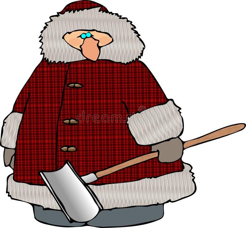 Sneeuwman stock illustratie