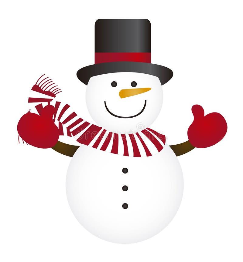 Sneeuwman royalty-vrije illustratie