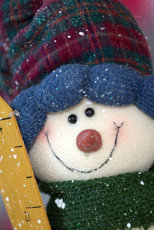 Sneeuwman royalty-vrije stock afbeelding