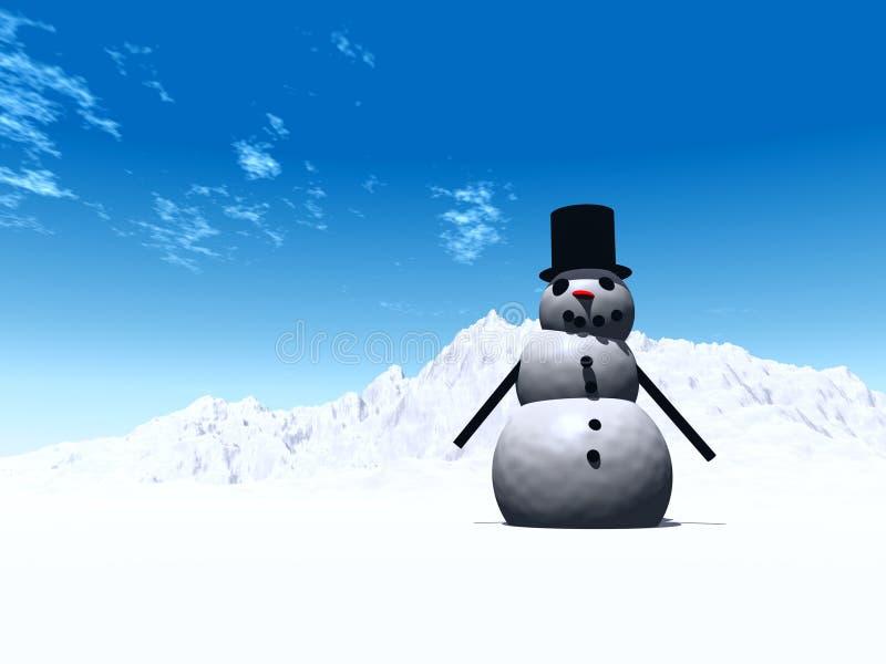 Sneeuwman 8 vector illustratie