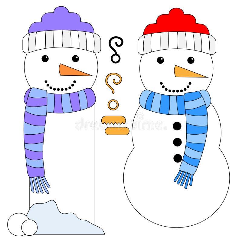 Sneeuwman en Sneeuwmanmarkering of Referentie royalty-vrije illustratie