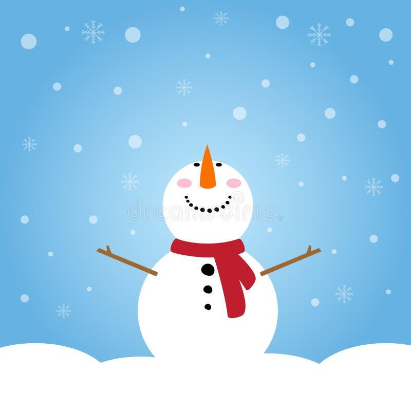 Sneeuwman het glimlachen stock afbeeldingen