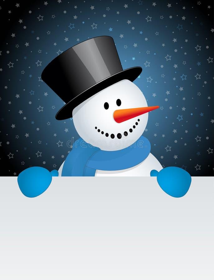Sneeuwman met witte spatie royalty-vrije illustratie