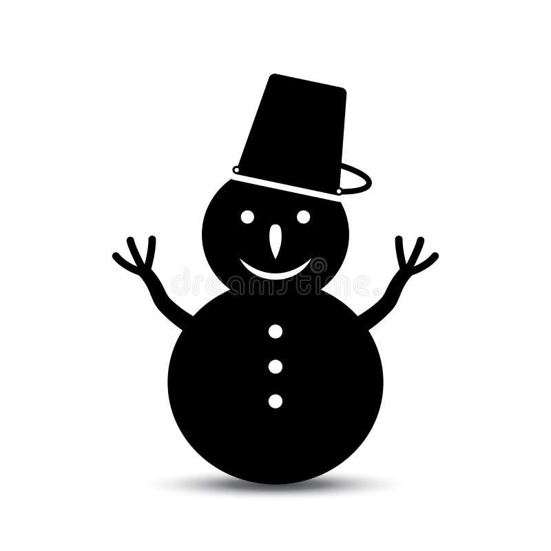 Download Sneeuwman vectorpictogram vector illustratie. Illustratie bestaande uit pictogrammen - 107703850
