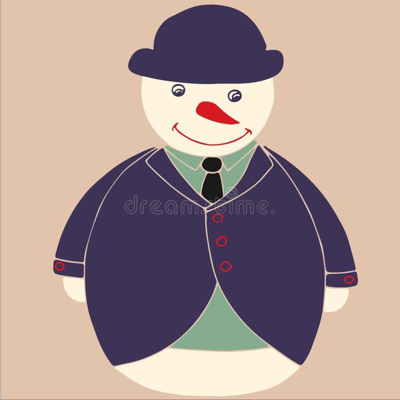 Sneeuwmanheer royalty-vrije stock afbeeldingen