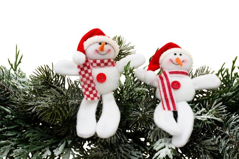 Sneeuwmannen stock afbeeldingen