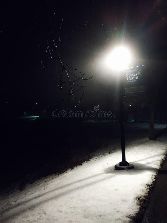 Sneeuwnacht stock afbeeldingen