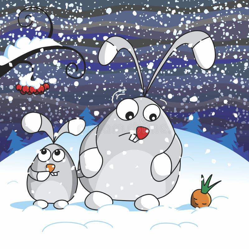 Sneeuwnacht vector illustratie