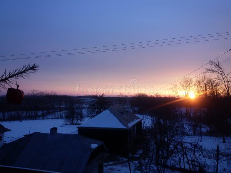 Sneeuwochtend stock afbeelding