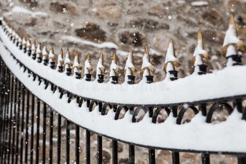 Sneeuwomheining stock foto's