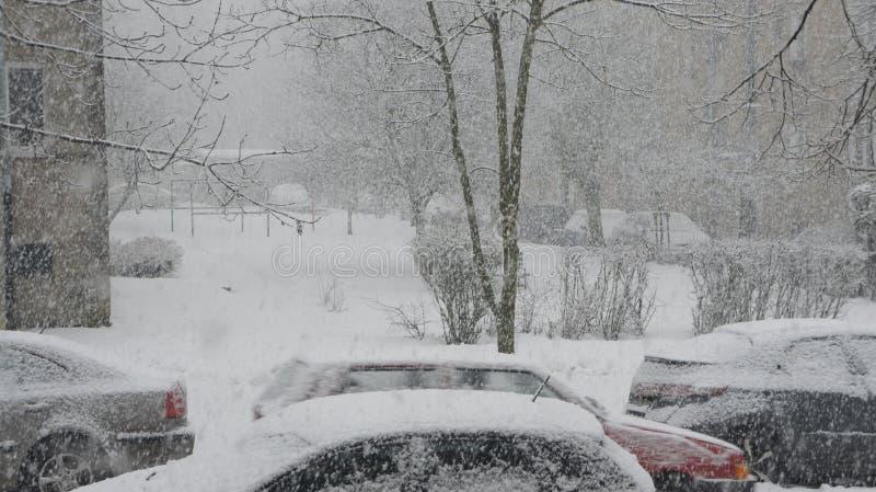 Sneeuwonweer stock foto's