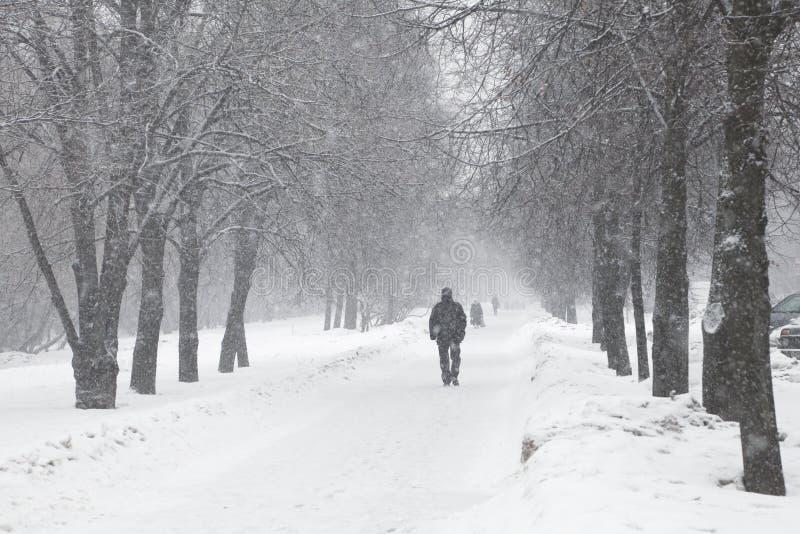 Sneeuwonweer stock foto