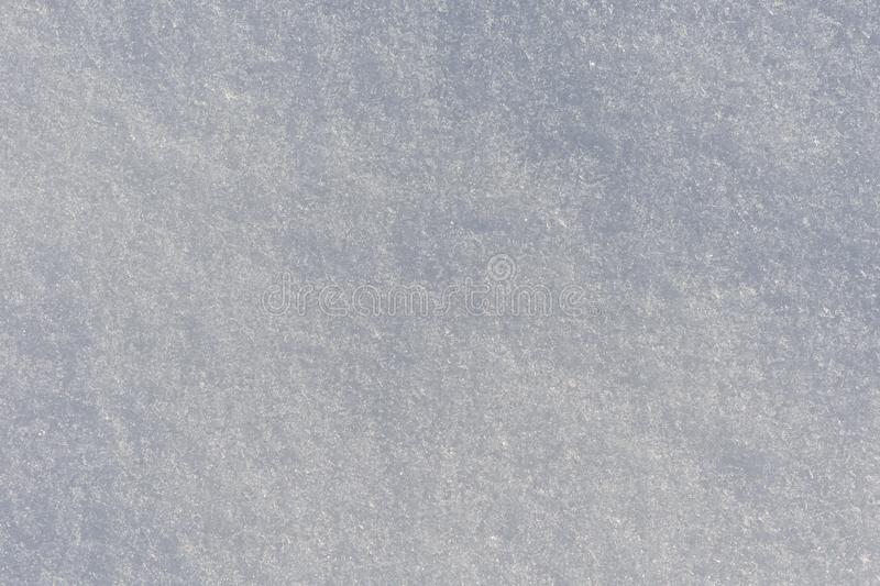 Sneeuwoppervlakte met kristallen van ijs stock foto's