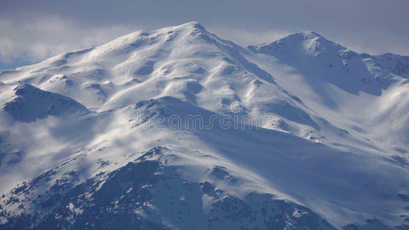 Sneeuwpieken van bergen in Turkije Antalya royalty-vrije stock afbeelding
