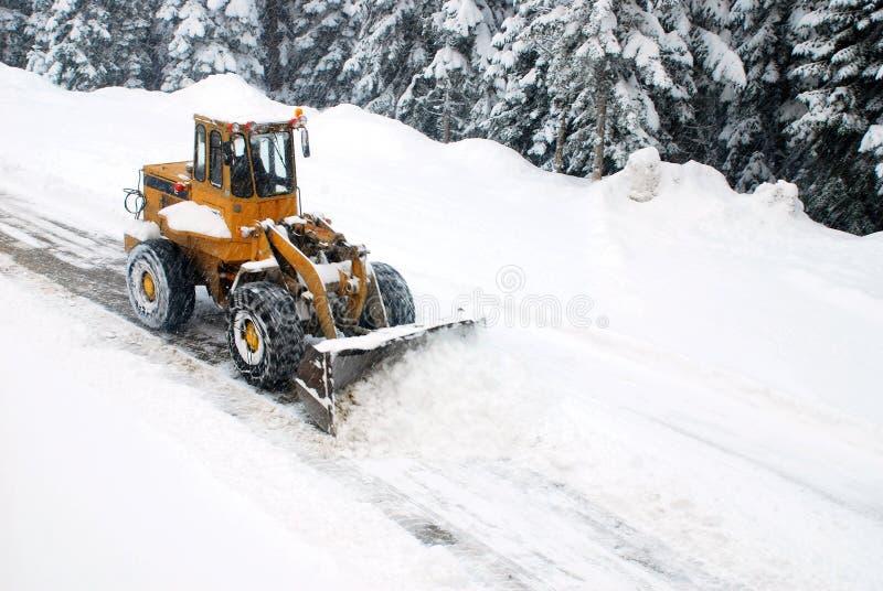 Sneeuwploeg stock afbeelding