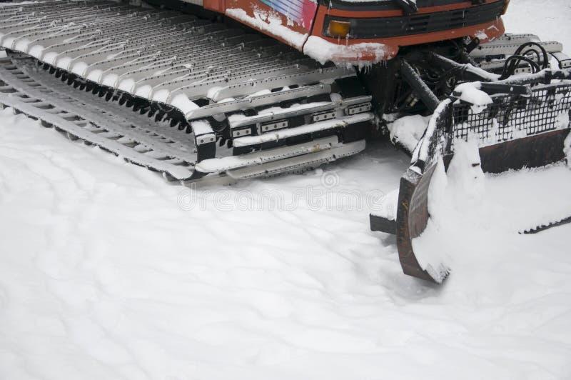 Sneeuwploeg die sneeuw verwijdert royalty-vrije stock foto's