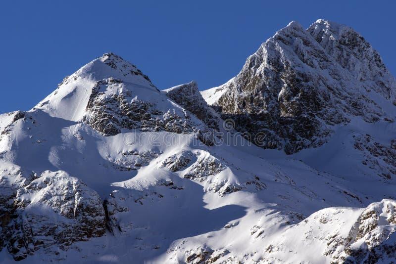 Sneeuwrotsen van Malyovitsa-piek, Rila-Berg royalty-vrije stock foto's