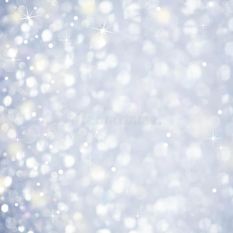 Sneeuwsamenvatting - Schitterend magisch licht en Sterren Sparcles stock afbeeldingen