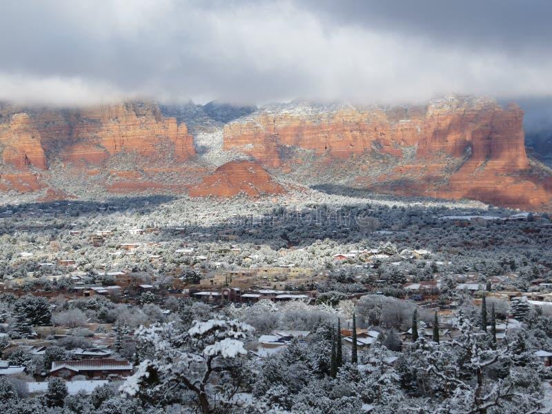 Sneeuwsedona stock foto's