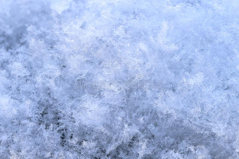 Sneeuwserie met de hoge achtergrond van de vergrotingswinter stock foto's