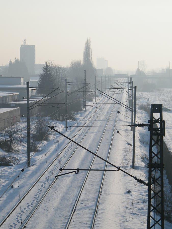 Sneeuwspoorweg stock foto's