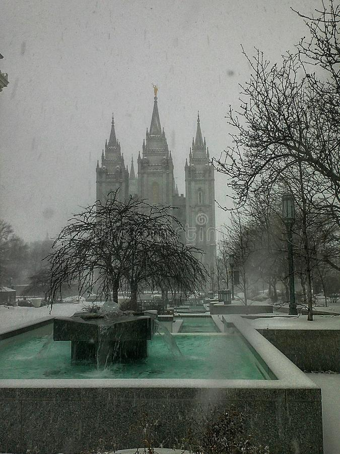 Sneeuwtempel royalty-vrije stock foto