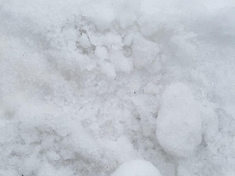 Sneeuwtextuur in de winter stock afbeelding