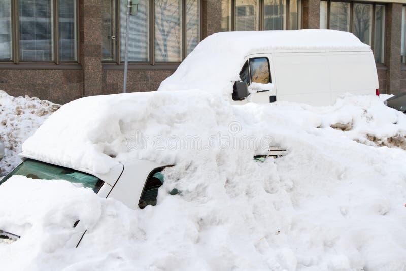 Sneeuwval in Helsinki (Finland) royalty-vrije stock afbeelding