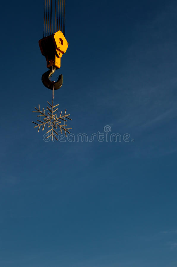 Sneeuwvlok royalty-vrije stock afbeelding