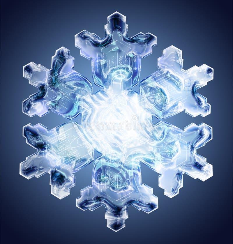 Sneeuwvlok 4 stock illustratie