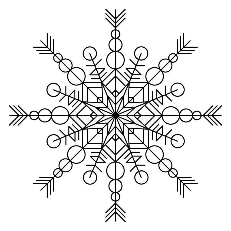 Sneeuwvlok kleurend boek stock illustratie
