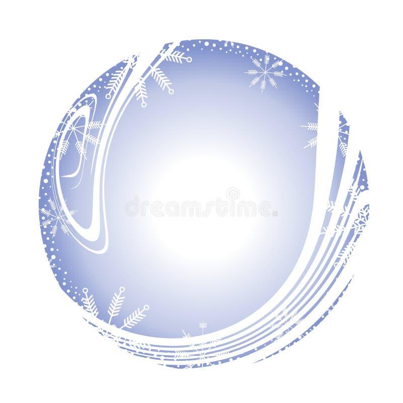 Sneeuwvlok om de Grens van het Frame royalty-vrije illustratie