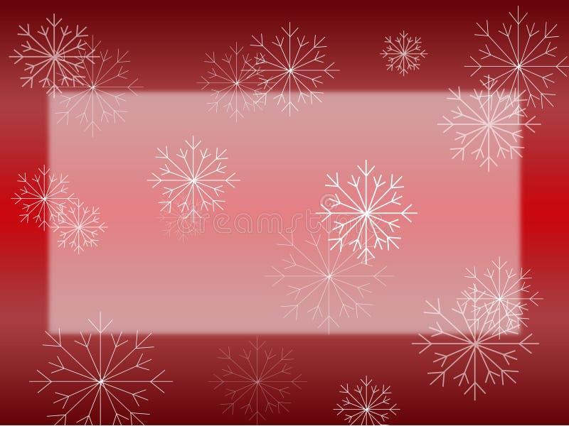 Sneeuwvlok op Rode Kaart royalty-vrije illustratie