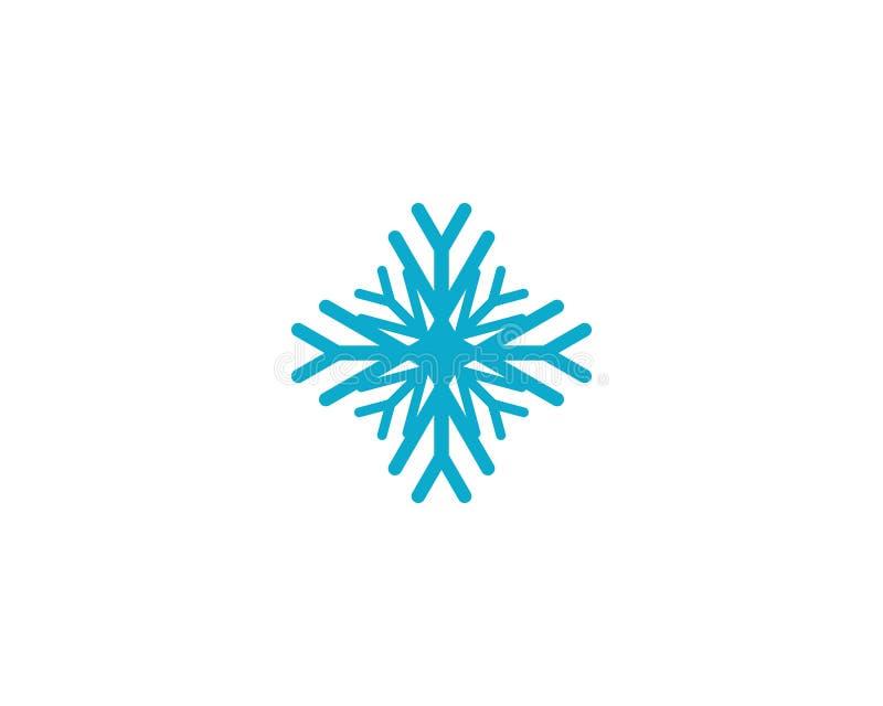Sneeuwvlok vectorpictogram vector illustratie